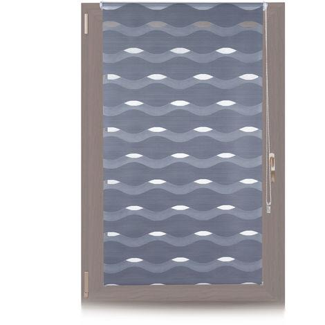 Doppelrollo Klemmfix, ohne Bohren, Blickschutzgrad variierbar, Gesamt: 90x150cm, Stoffbreite 86cm, anthrazit