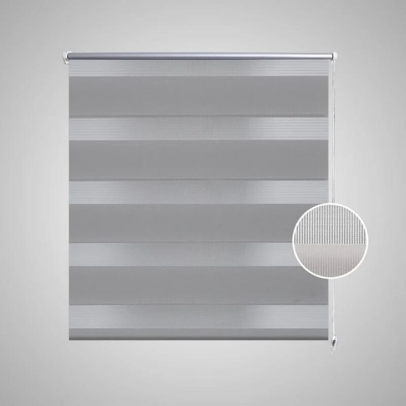 Seitenzug-Rollo 120x230cm Creme OHNE BOHREN Verdunklungs Fenster Klemm Easy Fix