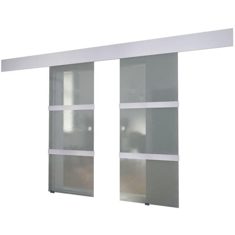 Doppelschiebetür Glas