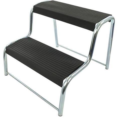 Doppeltrittstufe schwarz für Wohnwagen/Wohnmobil