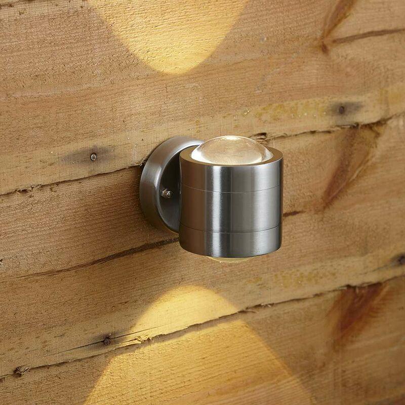 Clun Doppia Lampada da Parete a LED per Esterni -Moderna in Acciaio Inossidabile