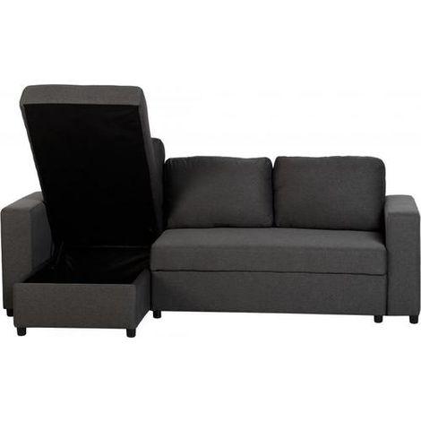 Dora Corner Sofa Bed - Grey Fabric