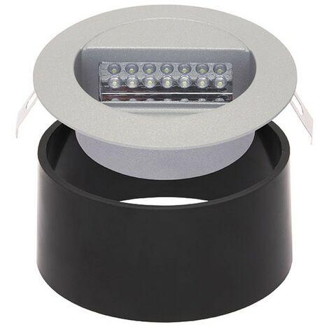 DORA llevó la luz de punto redonda de aluminio empotrada J01 con caja de montaje