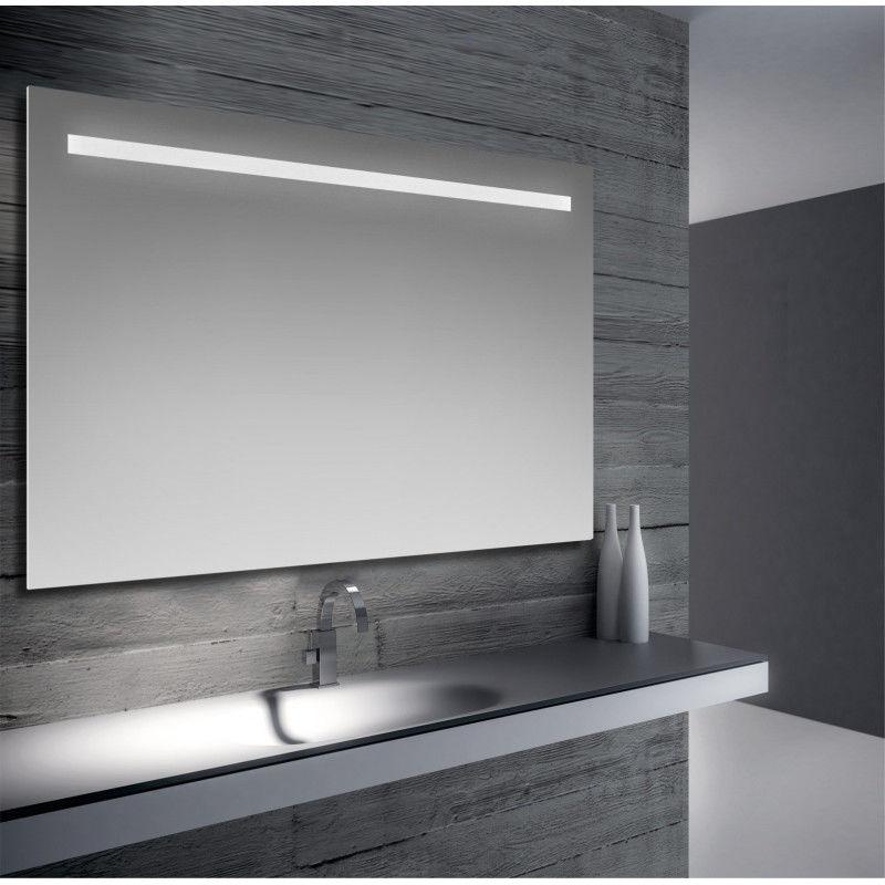 Specchio Bagno 120 X 60.Dora Specchio Da Bagno Filo Lucido Con Fascia Sabbiata
