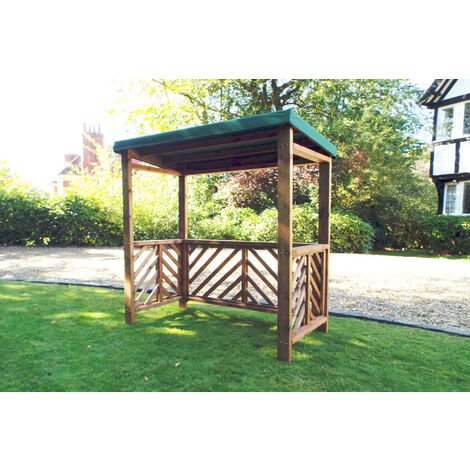 Dorchester BBQ Shelter (Green Roof Cover), wooden garden furniture, fully assembled