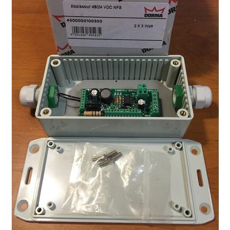 Dorma 4500000100300 - Voltage step down 48/24 VDC NFS Out maxi 2 x 3 W