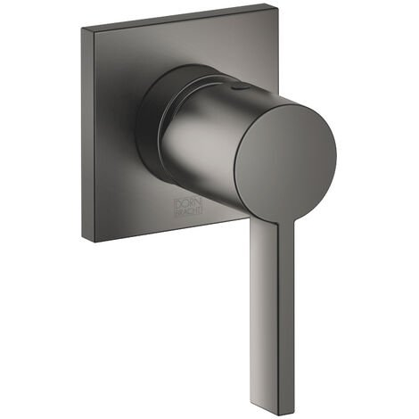 Dornbracht flush-mounted built-in battery with cover plate 80x80 mm, 36060670, colour: dark Platinum matt - 36060670-99