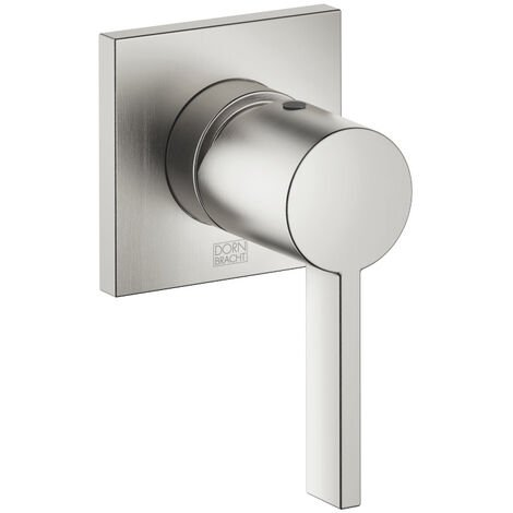 Dornbracht flush-mounted built-in battery with cover plate 80x80 mm, 36060670, colour: Platinum Matt - 36060670-06