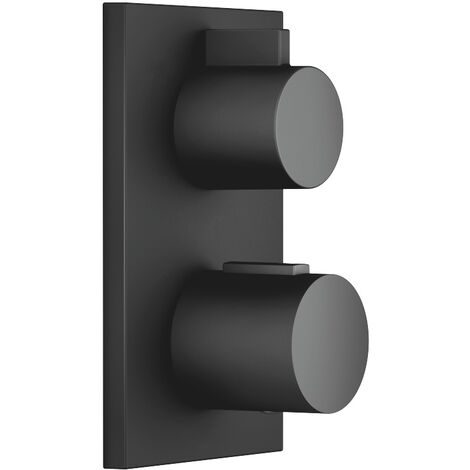 Dornbracht flush-mounted thermostat with two-way volume control 36426670, kit removal, colour: Black Matt - 36426670-33
