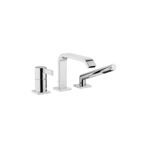 Dornbracht IMO mezclador monomando de tres agujeros para instalación en el borde de la bañera o en el borde del azulejo, proyección 224 mm, 27412670, color: cromado - 27412670-00