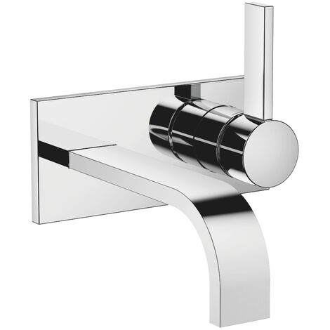 Dornbracht wall-mounted single-lever basin mixer with cover plate, projection 177 mm, colour: brushed brass - 36863782-28