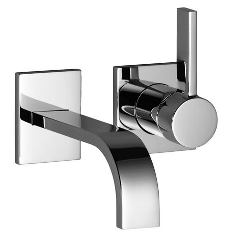 Dornbracht wall-mounted single-lever basin mixer without pop-up waste, projection 177 mm, colour: chrome - 36860782-00