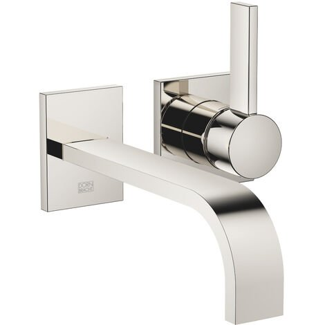 Dornbracht wall-mounted single-lever basin mixer without pop-up waste, projection 207 mm, colour: platinum - 36861782-08