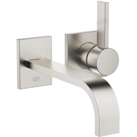 Dornbracht wall-mounted single-lever basin mixer without pop-up waste, projection 207 mm, colour: Platinum Matt - 36861782-06