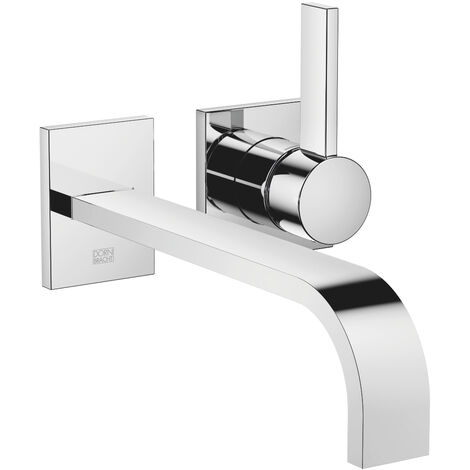Dornbracht wall-mounted single-lever basin mixer without pop-up waste, projection 247 mm, colour: chrome - 36862782-00