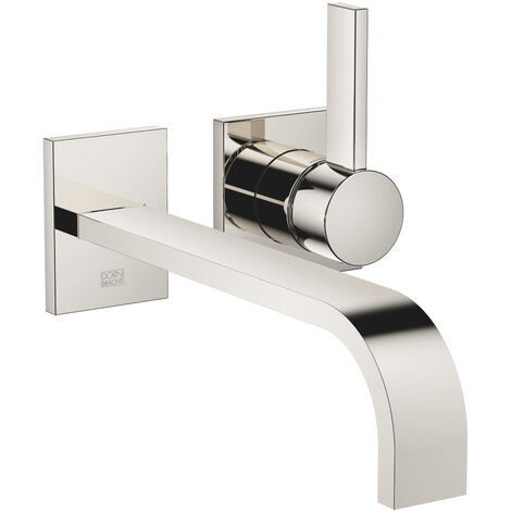 Dornbracht wall-mounted single-lever basin mixer without pop-up waste, projection 247 mm, colour: platinum - 36862782-08