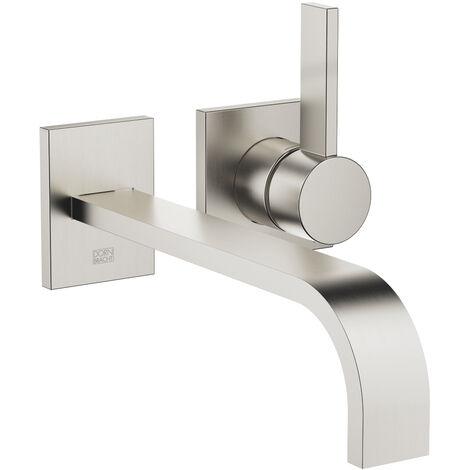 Dornbracht wall-mounted single-lever basin mixer without pop-up waste, projection 247 mm, colour: Platinum Matt - 36862782-06