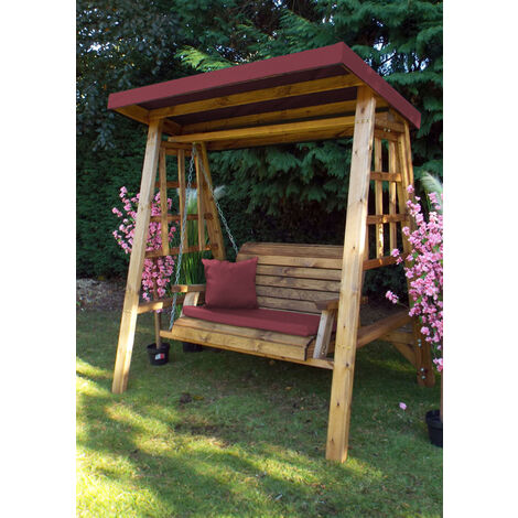 Dorset Two Seat Swing Burgundy - Fully Assembled