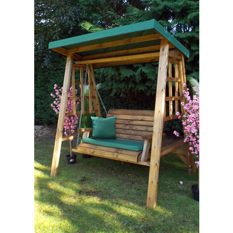 Dorset Two Seat Swing Green - Fully Assembled