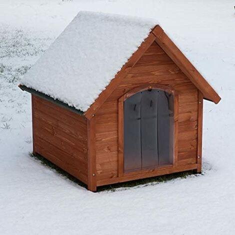 Dos aguas techo de la perrera con aislamiento de espuma de poliestireno innenwandiger, y tamaño de la puerta de plástico XL: B T 112 x 102 x 107 cm H