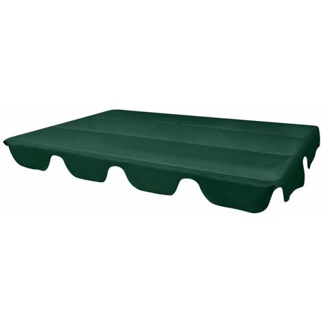 Dosel de reemplazo para columpio de jardín 226x186 cm verde