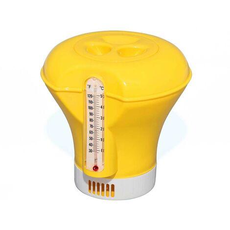 Doseur flottant piscine Bestway Ø18,5cm pour pastilles 200g thermomètre