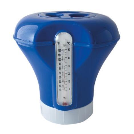 Dosificador clorador flotante con termometro