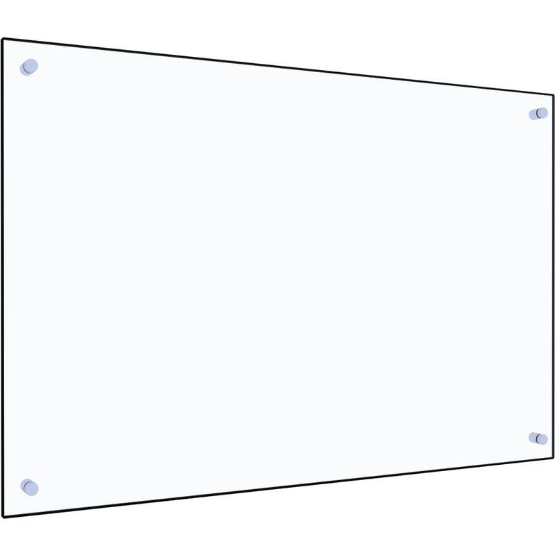 Dosseret de cuisine Transparent 90 x 60 cm Verre trempé