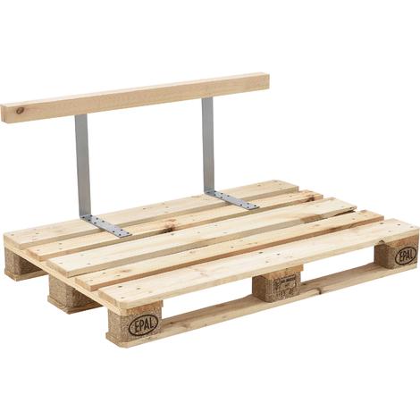 Dossier pour canapé d\'euro palette massif aspect du bois meubles DIY