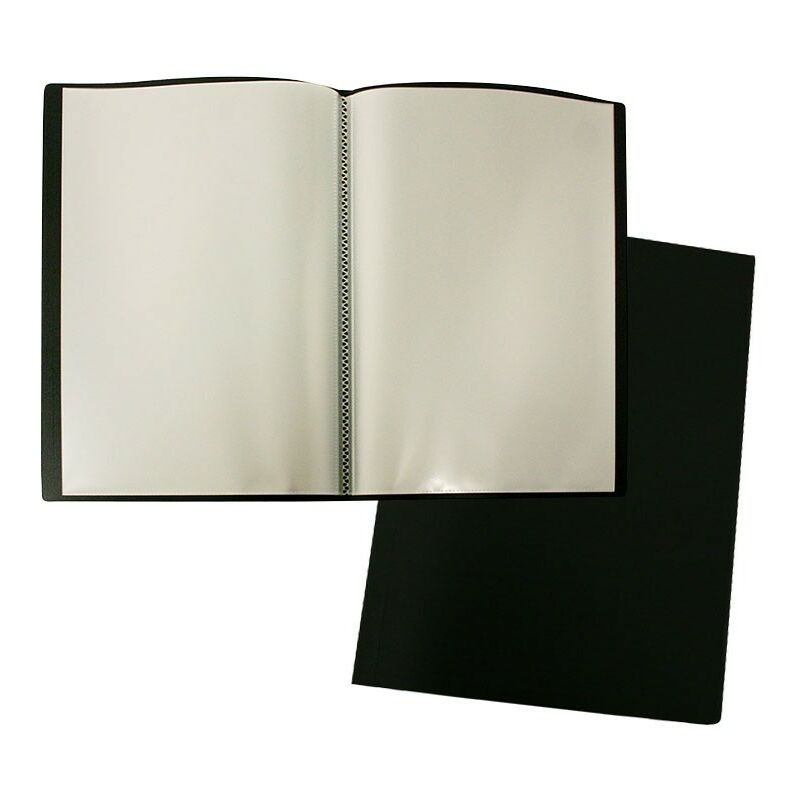 Dossier Pp 20 Manches A4 Noir