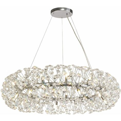 Dotz crystal pendant light 26 Bulbs Polished chrome
