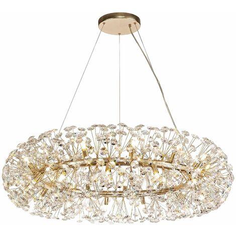Dotz lámpara colgante de cristal 26 bombillas dorado 60 cm
