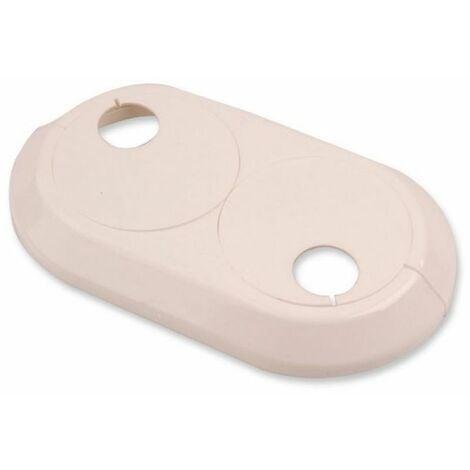 Double 20mm PVC Blanc Radiateur Plastique Eau Couvre Tuyau Collier