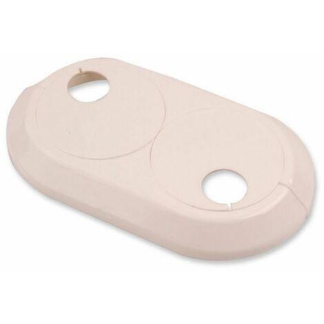 22mm Double PVC Blanc Radiateur Plastique Conduite D'eau Couverture Collier