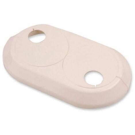 Double 28mm PVC Blanc Radiateur Plastique Eau Couvre Tuyau Collier