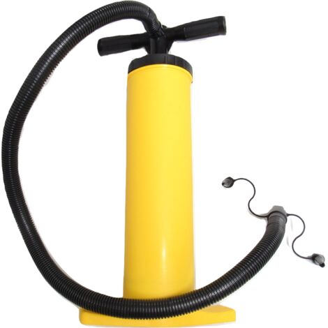 Double Action Hand Pump - Quickly Inflate & Deflate Air Bed Balloons Swimming Pool Dinghy