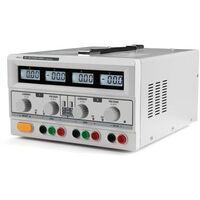 DOUBLE ALIMENTATION DE LABORATOIRE CC - 2 x 0-30 VCC / 0-3 A 5 VCC fixe / 3 A MAX AVEC 4 ECRANS LCD - LABPS23023
