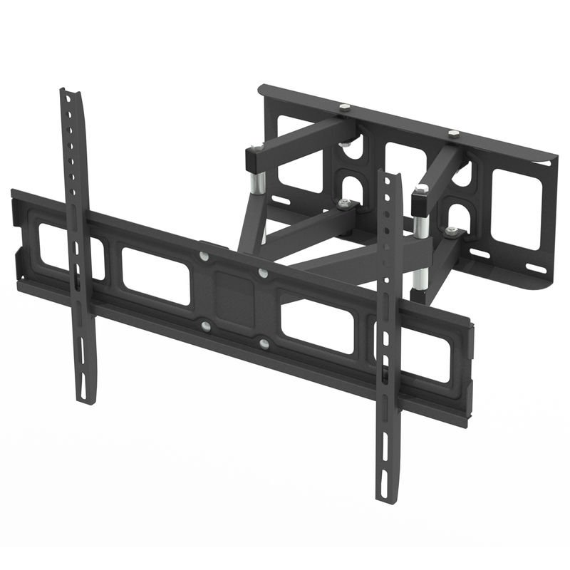 Leadzm - Double-armed Tilt & Swivel Wall Mounted TV Bracket 3D 600x400mm 32'-70'