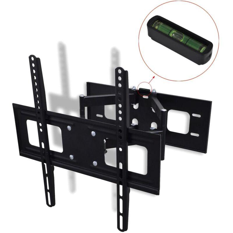 Double-armed Tilt & Swivel Wall Mounted TV Bracket 3D 400x400mm 32'-55' - Black - Vidaxl