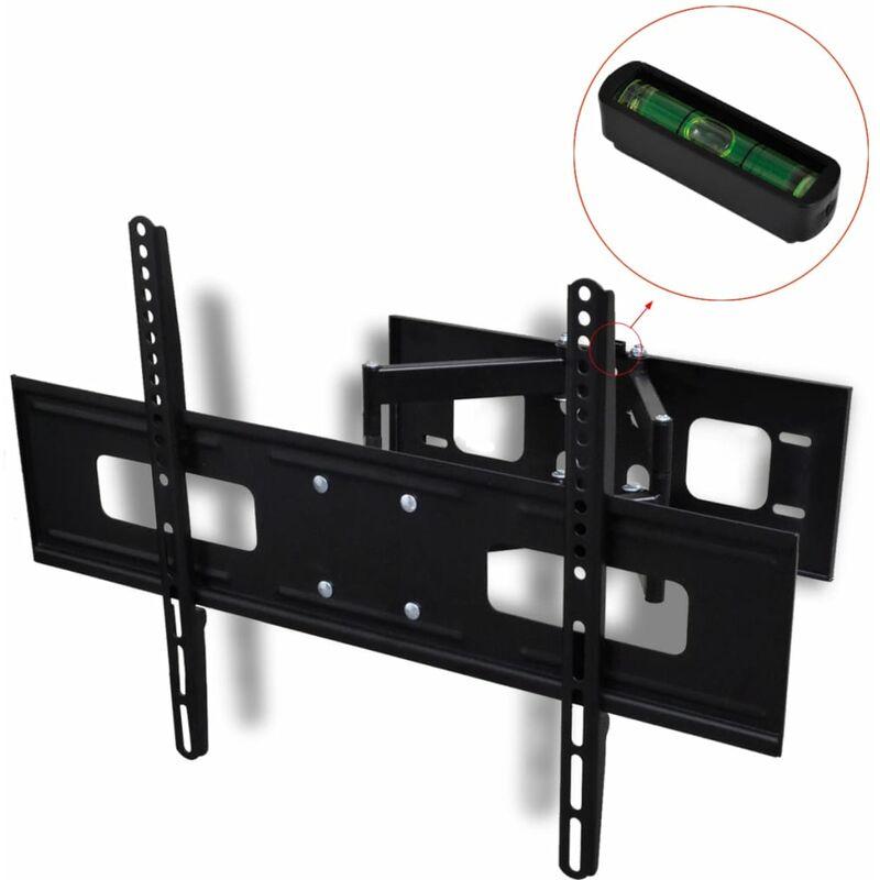 Double-armed Tilt & Swivel Wall Mounted TV Bracket 3D 600x400mm 37'-70' - Black - Vidaxl