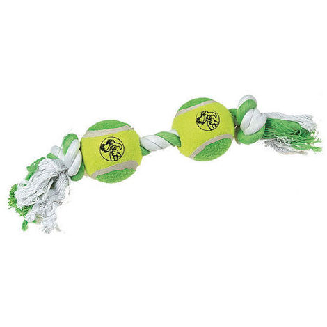 Double balle tennis et corde à 2 noeuds