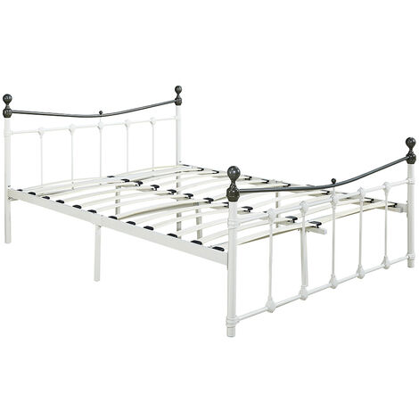 Double Bed Frame 4.6FT Metal Bed