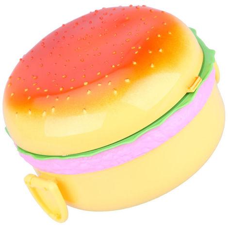 Double boîte à lunch en plastique pour hamburger bento, stockage de contenants alimentaires avec isolant à fourche