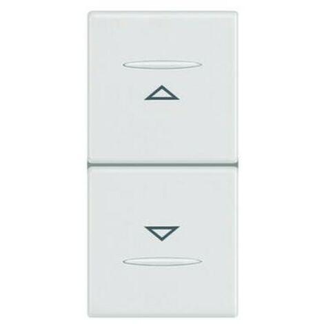 Double bouton Legrand Vela blanc 687015