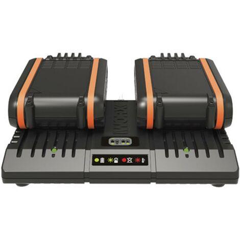 Double chargeur de batterie Worx WA3869 20V 2Ah