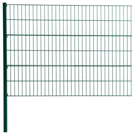 Double clôture de maille d'extension de clôture de grillage 120cm RAL6005