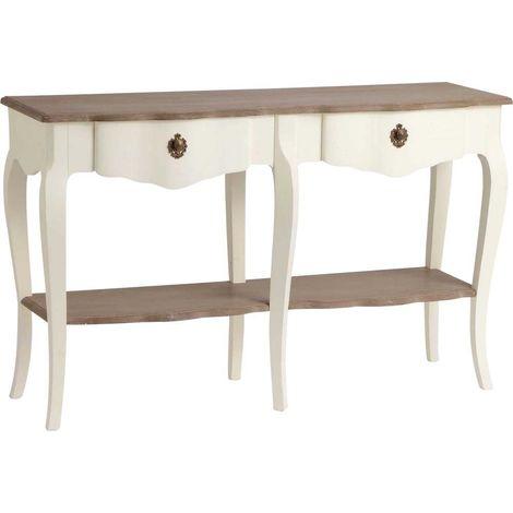 Double console Celestine blanche en bois MDF