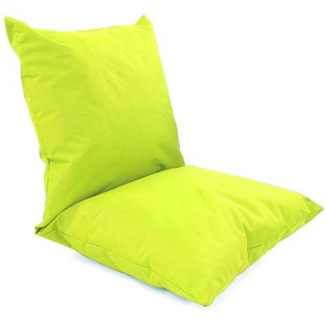 DOUBLE - Coussin de sol multifonction pour intérieur et extérieur vert 120x60 - Vert
