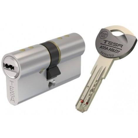 Double Cylinde de serrure - TESA TX80 - HAUTE SURETE - Carte de propriété
