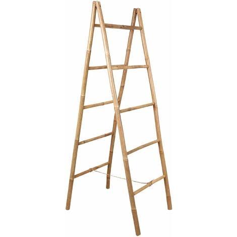 Double échelle en bambou